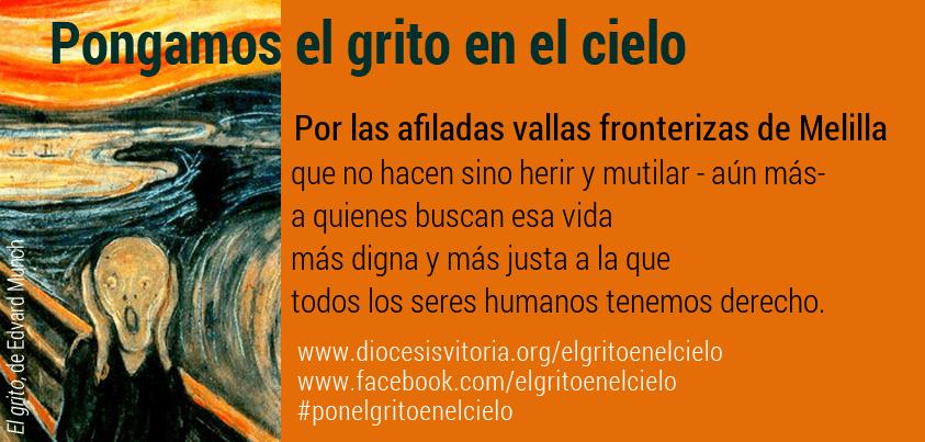 Por las afiladas vallas fronterizas de Melilla, que no hacen sino herir y mutilar - aún más- a quienes buscan esa vida más digna y más justa a la que todos los seres humanos tenemos derecho.