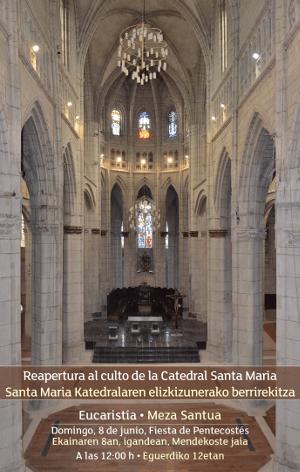 cartel Reapertura Catedral santa María