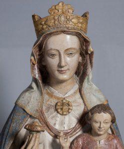 Virgen Blanca, talla en el Museo Diocesano de Arte Sacro