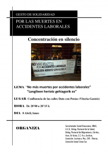 Gesto Solidaridad - Accidente Laboral